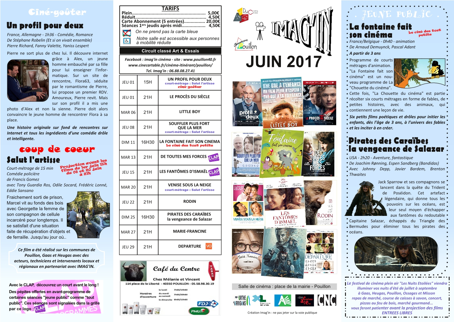 affiche recto cinema juin