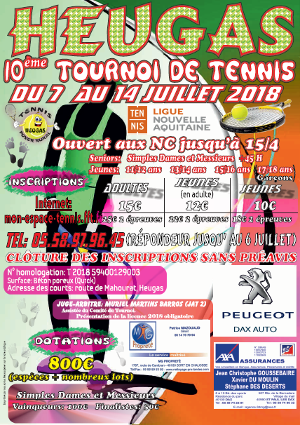 affiche tournoi tennis