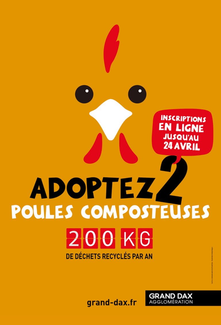 Adoptez 2 poules composteuses