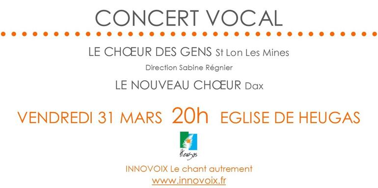 Concert vocal gratuit